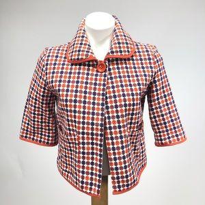 Tulle vintage retro 70s cropped one button blazer